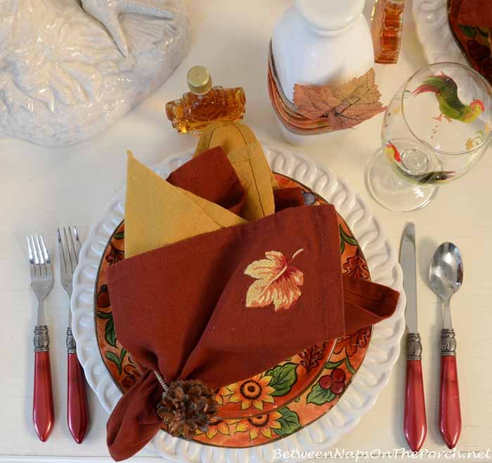 Fall Breakfast Tablescape Table Setting