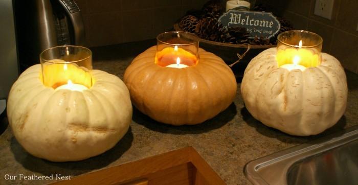 Make Lanterns From Gourds and Pumpkin