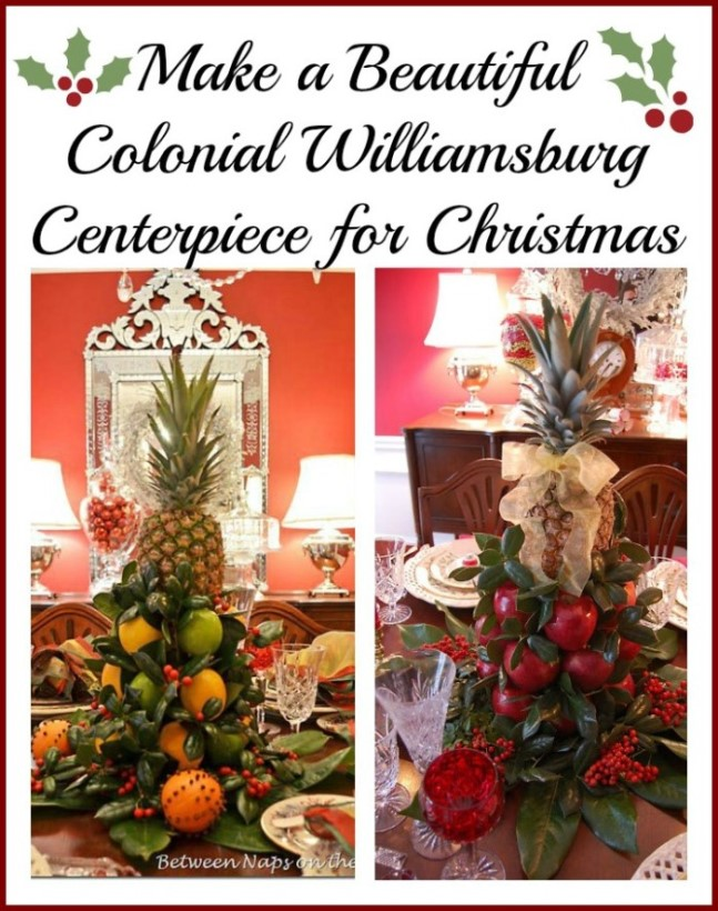 make a colonial williamsburg apple tree centerpiece for christmas 1 - Colonial Christmas Decor