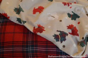 Martha Stewart Plaid Scottie Flannel Sheet