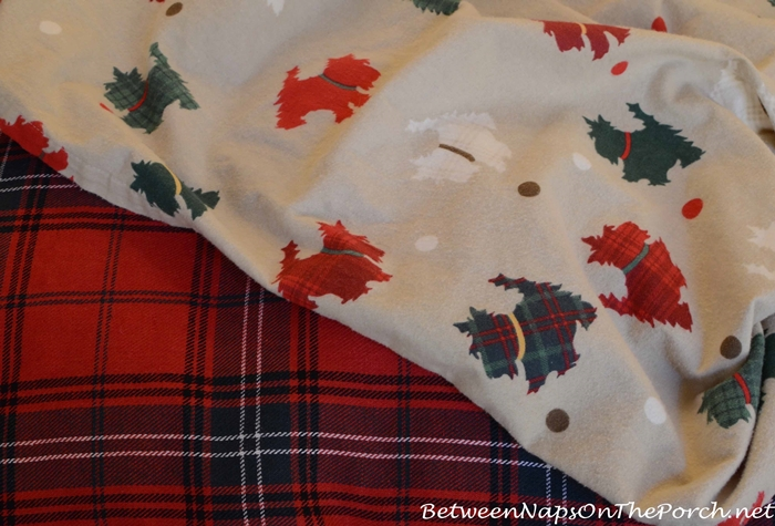 Martha Stewart Plaid Scottie Flannel Sheets