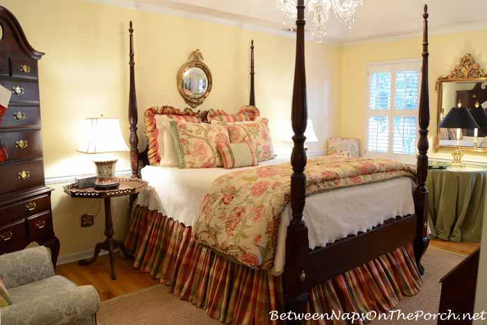 Moire Plaid Bed Skirt and matelasse