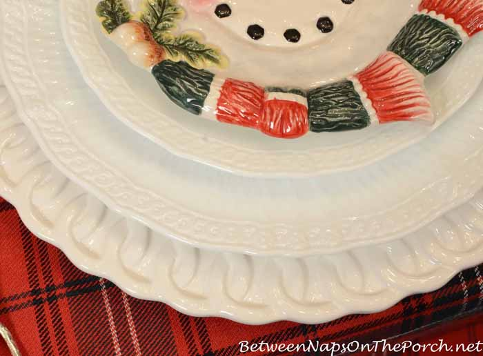 Noritake Cher Blanc Dishware in a Winter Holiday Table