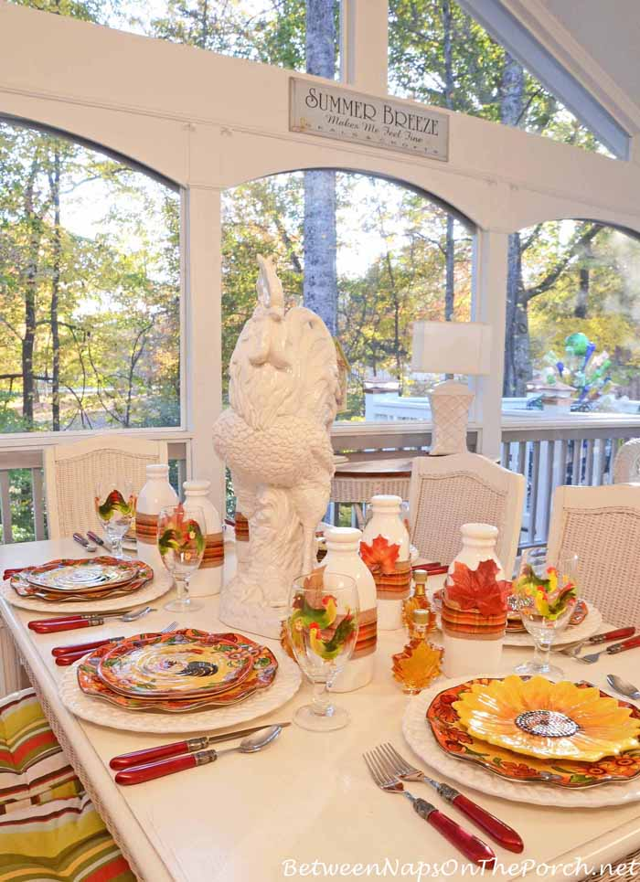Pancake Breakfast Tablescape On The Porch