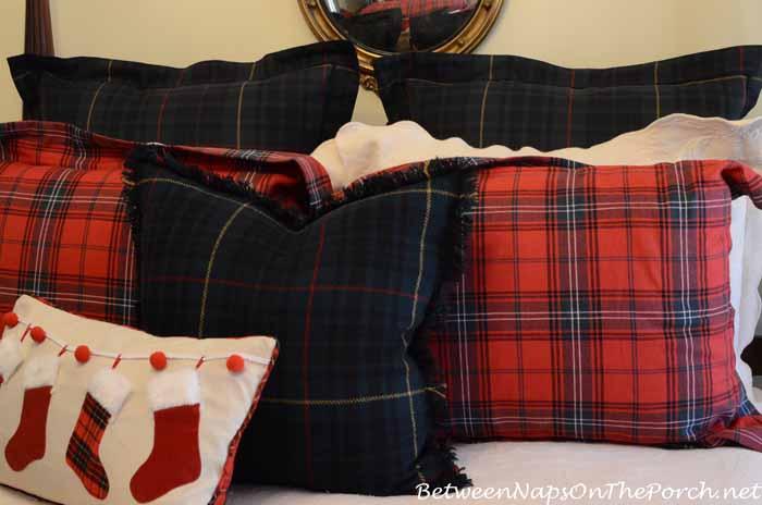 Plaid Bedding With Ralph Lauren Wool Pillows