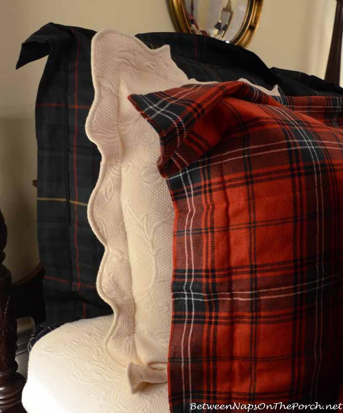 Ralph Lauren Duke Devonshire Bedding With Williams-Sonoma Tartan Bedding_wm