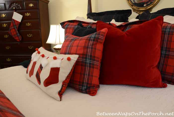 Ralph Lauren Red Velvet Pillow