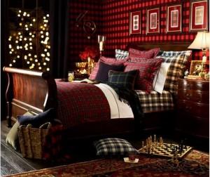 Stunning Create a Winter Retreat With Tartan Bedding