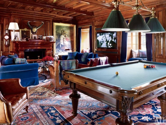 Ralph Lauren's Billard Room