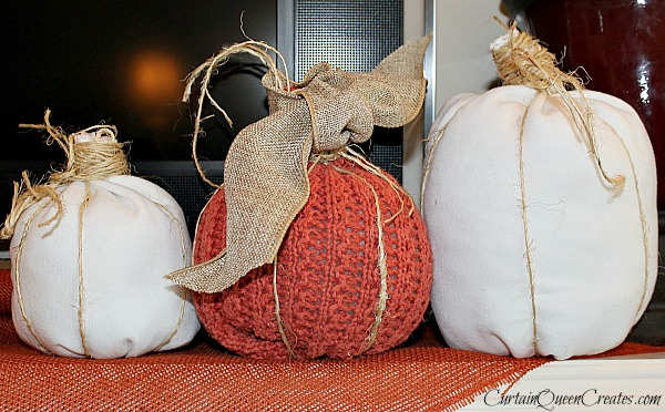 Recycle Shirts for a DIY Pumpkin