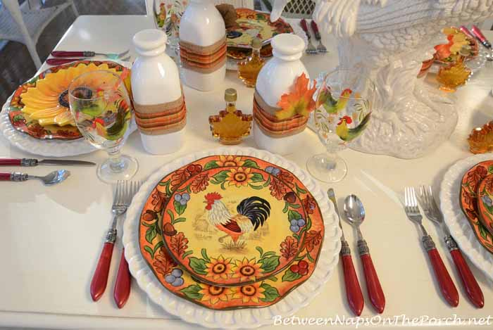 Rooster Dishware Plates
