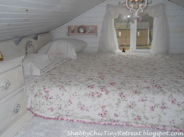 fairytale cottage decorated in shabby chic style 17048 | small shabby chic cottage bedroom