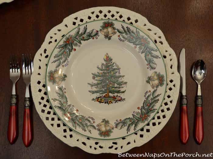 Spode Christmas Tree Garland Dinner Plate