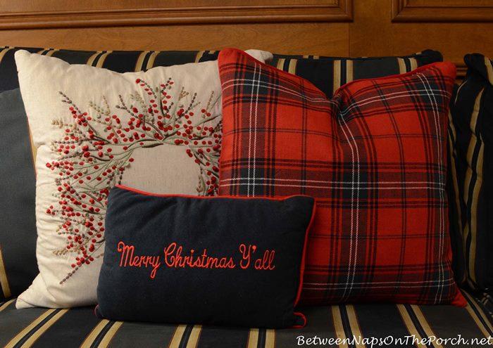 Tartan Christmas Pillows
