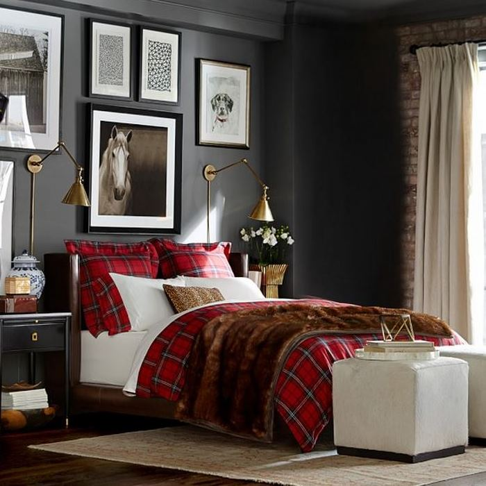 Tartan Duvet and Shams