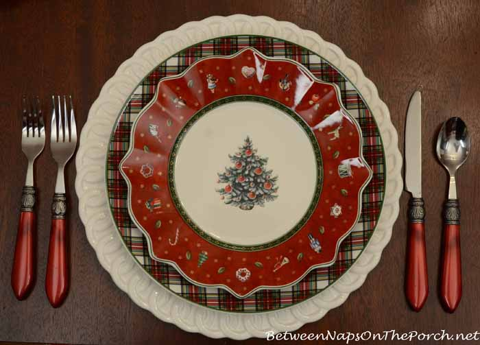 Tartan Nikko Ironstone Plates and Villeroy & Boch Toy's Delight Plates