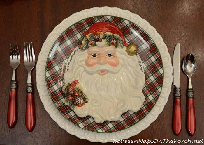 Tartan Nikko Ironstone and Santa Plates