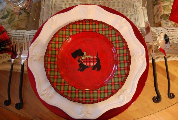 Tartan Scottie Plates
