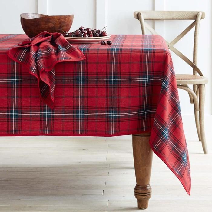 Tartan Tablecloth 70 x 126