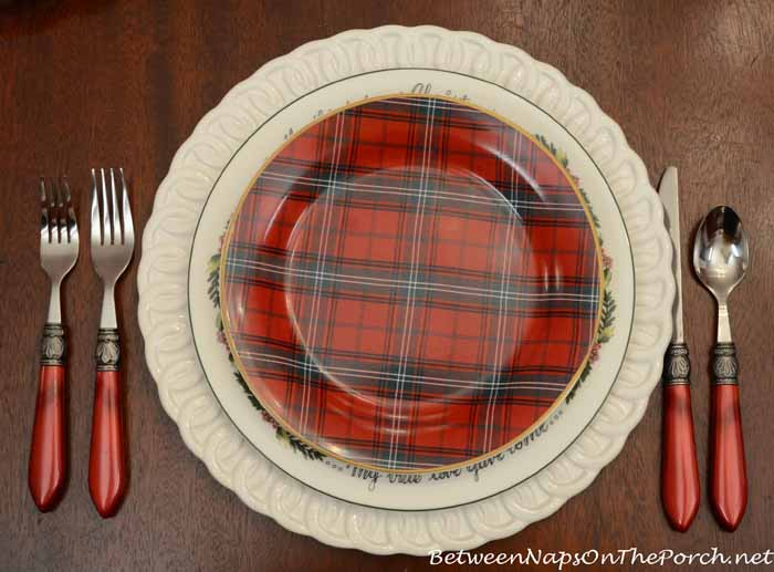 Valerie Parr Hill's Twelve Days of Christmas Dishware and Williams-Sonoma Tartan Plates