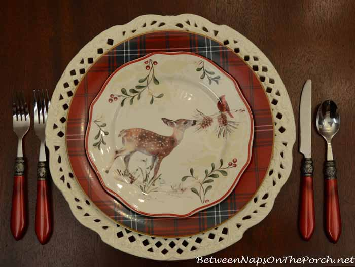 Williams-Sonoma Tartan Plates and Better Homes and Garden Christmas Deer Plates