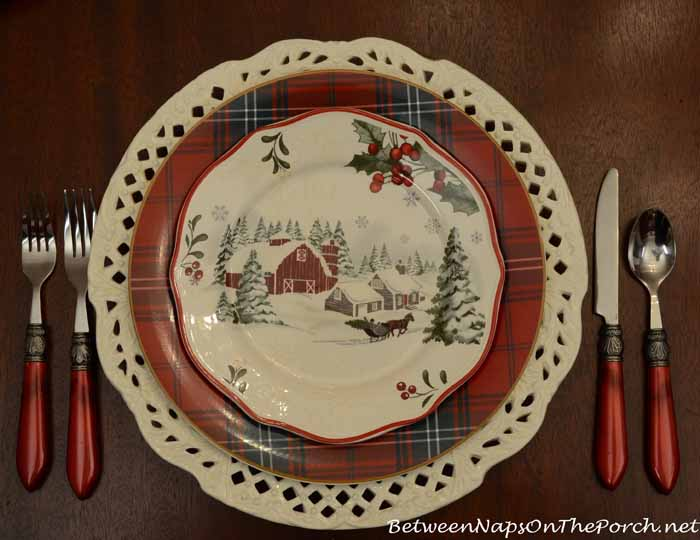 Williams-Sonoma Tartan Plates and Better Homes and Garden Christmas Plates