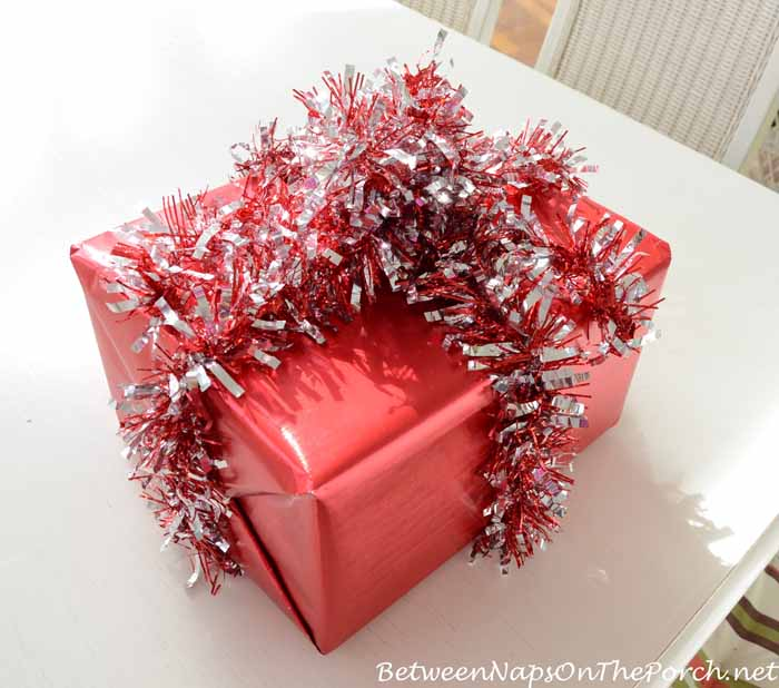 Wrap Present in Garland Instead of Ribbon