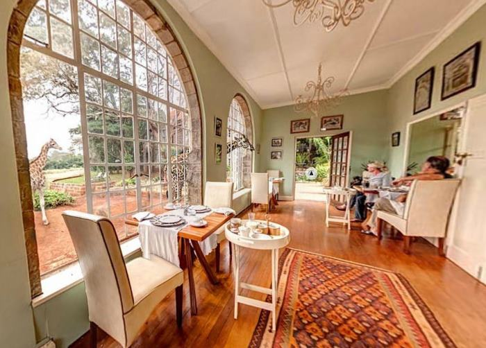 Breakfast Room at Giraffe Manor