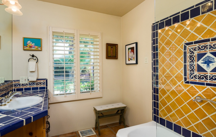Clark Gable and Carole Lombard's Bath in Spanish Colonial Home Palm Spring, CA
