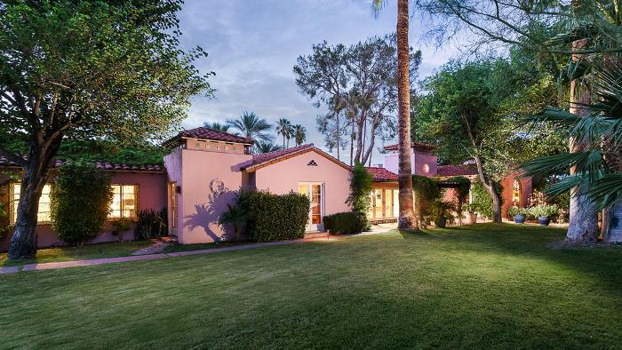 Clark Gable and Carole Lombard's Spanish Colonial Home in Palm Springs, CA