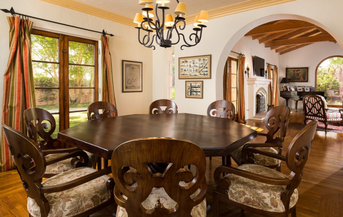 Clark Gable's Dining Room Spanish Colonial Home in Palm Spring