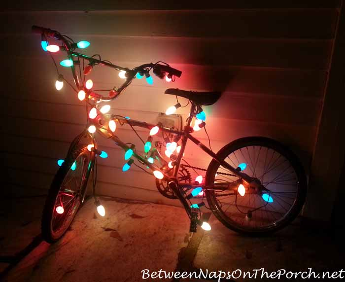 Decorate Bike With Christmas Lights
