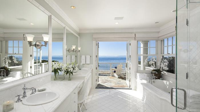 Dennis Miller's Carpinteria, CA Beach House Bathroom