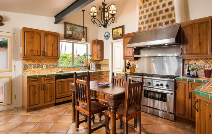 Kitchen in Clark Gable and Carole Lombard's Spanish Colonial Home in Palm Spring, CA 04