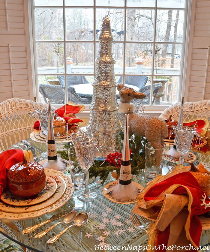 New Year's Party Tablescape Table Setting