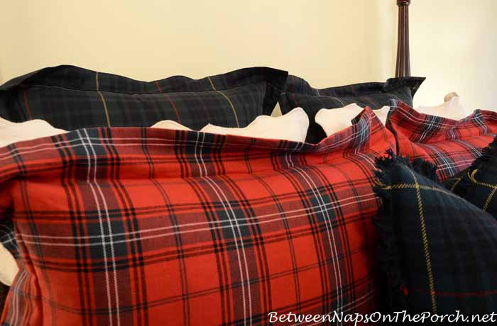 Plaid Pillow Shams For Fall and Winter