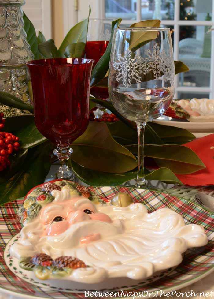Santa Plates For Christmas