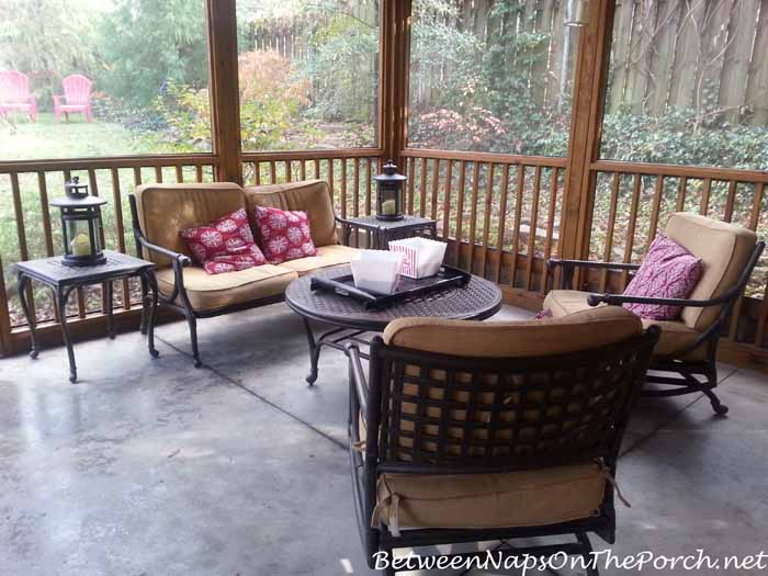 Seating in Summer House or Screened Porch