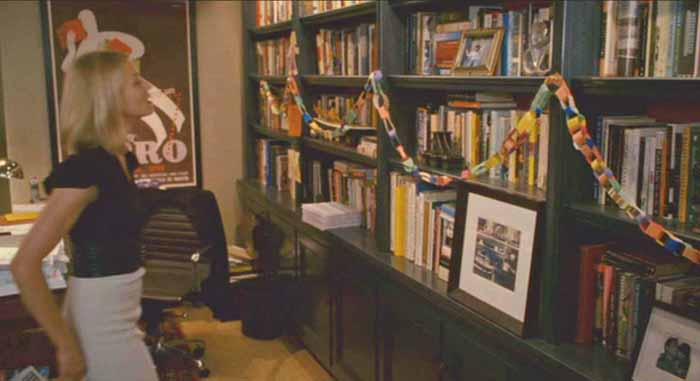 Bookshelves in Graham's Office in Movie The Holiday