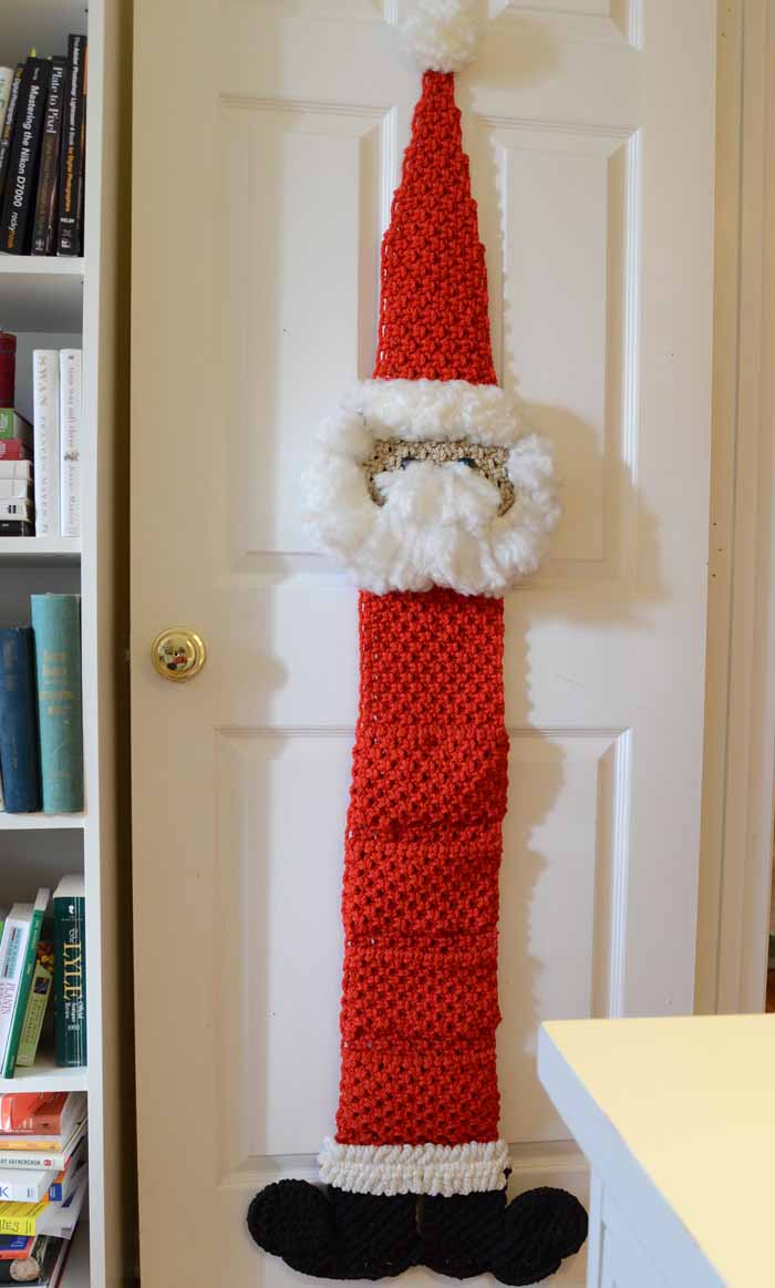 Christmas Cards Displayed in Macrame Santa