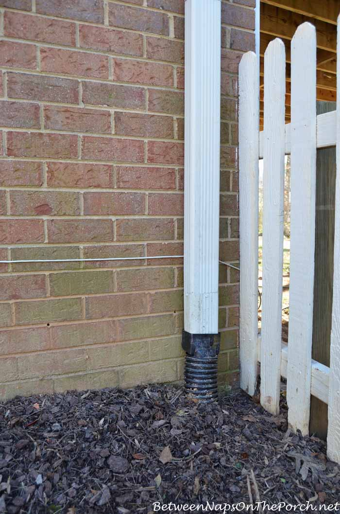 Downspout Piped Underground