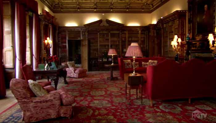 Downton Abbey Highclere Castle Library