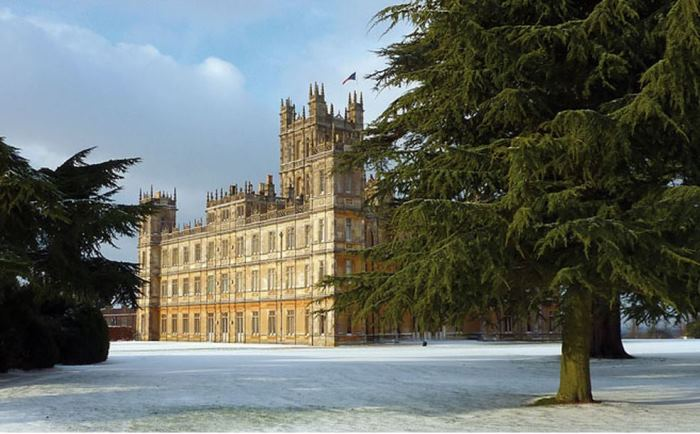 Downton Abbey, Highclere Castle in the Snow