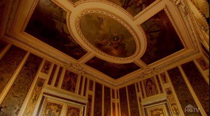 Downton Abbey Music Room Ceiling, Highclere Castle