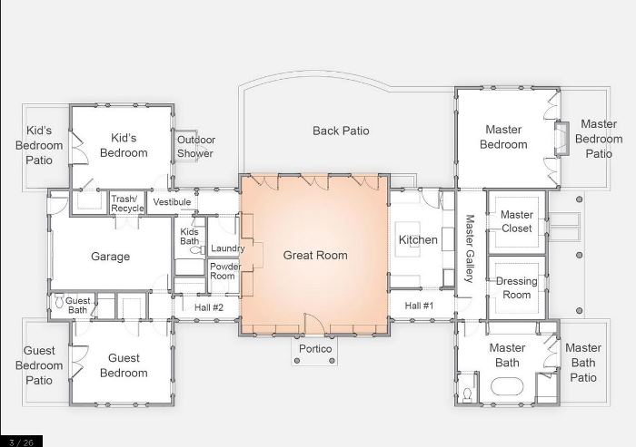 Floor Plan, HGTV Dream Home 2015 on Martha's Vineyard