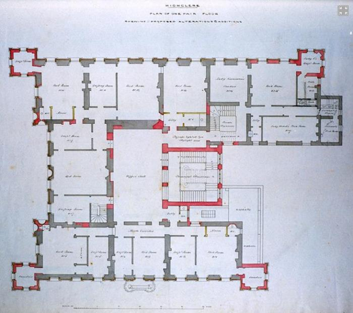 Floorplan of Highclere from Highclere website