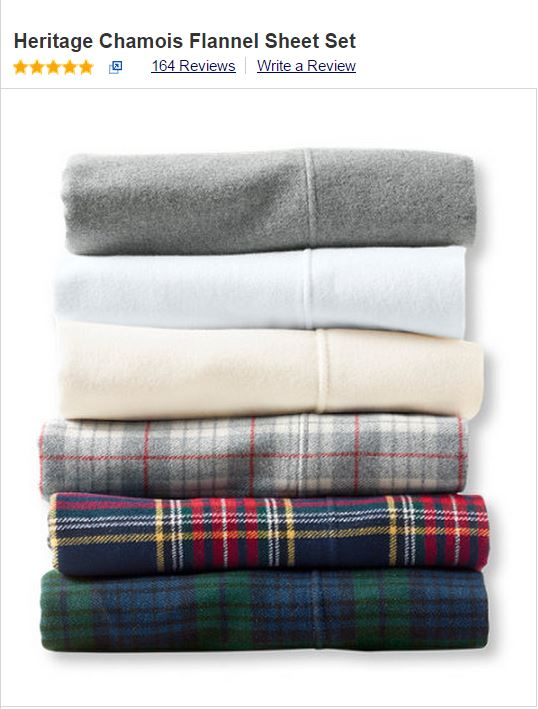 Heritage Flannel Sheets from L.L. Bean