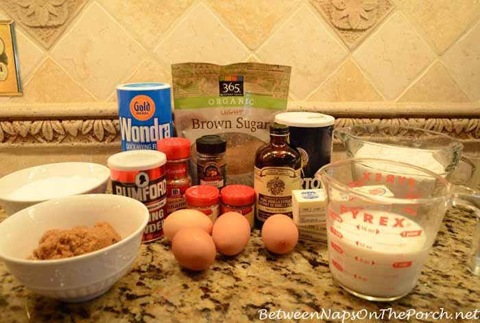 Ingredients For Snowman Spice Cake