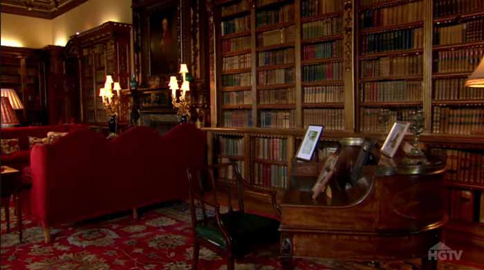 Library in Downton Abbey