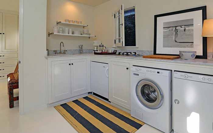 Morning Kitchen, Laundry Room Combination in George Peppard's Hollywood Home 07